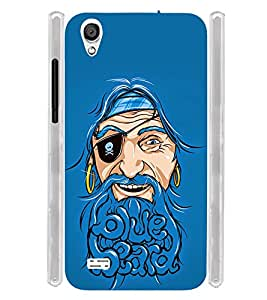 Blue Beard Soft Silicon Rubberized Back Case Cover for Vivo Y11