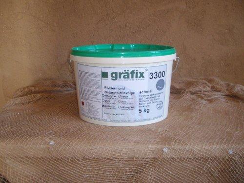 Gräfix Fliesen- und Natursteinflexfuge auf Trassbasis Farbe anthrazit (5 kg)