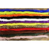 Alta calidad 12colores Conejo Zonker tiras 5mm ancho Steelhead graves serpentinas moscas materiales
