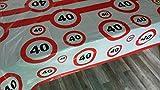 40 igster Geburtstag-Feier-abwaschbare Party-Feier-Tisch-Decke-Deko-Idee vom Sachsen Versand