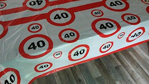 40 igster Geburtstag-Feier-abwaschbare Party-Feier-Tisch-Decke-Deko-Idee vom Sachsen Versand (Geburtstags-party Für Deko-ideen)