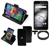 K-S-Trade TOP SET für Gigaset GS180 360° Schutz Hülle Handy Smartphone Tasche Wallet case Flipcase Flipstyle Cover Sc