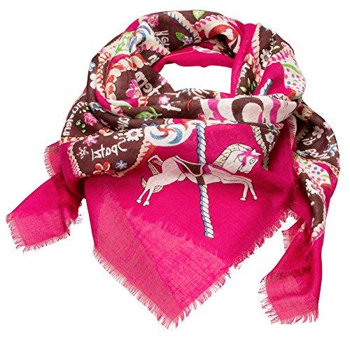 Alpenflüstern Alpenflüstern Trachtentuch Sweet Temptation pink-fuchsia ATX014