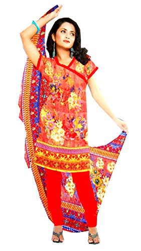 C&S Elegant Multicolor Un-stitched Floral Printed Cotton Salwar Suit Dress Material