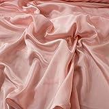 Kreppstoff mit Satin-Rückseite, Rosafarben, Für