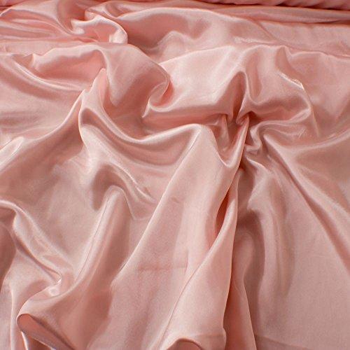 Kreppstoff mit Satin-Rückseite, Rosafarben, Für Hochzeits- oder Ballkleider, 150 cm breit,...