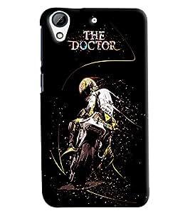 Blue Throat The Doctor On Bike Printed Designer Back Cover/ Case For HTC Desire 626