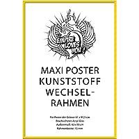 Empire Merchandising GmbH 674999, Cornici di ricambio in plastica per poster grandi, profilo 15 mm, 62 x 93 cm, con vetro acrilico, colore: Giallo