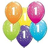 Unbekannt Qualatex 17817Bademantel rund Tropische Sortiment Latex Ballon, 27,9cm