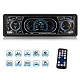 Autoradio, YOSASO Autoradio Stereo MP3 Player Audio LCD Bildschirm Unterstützt USB/SD / Aux/Bluetooth / FM 87,5-108 MHz mit Fernbedienung