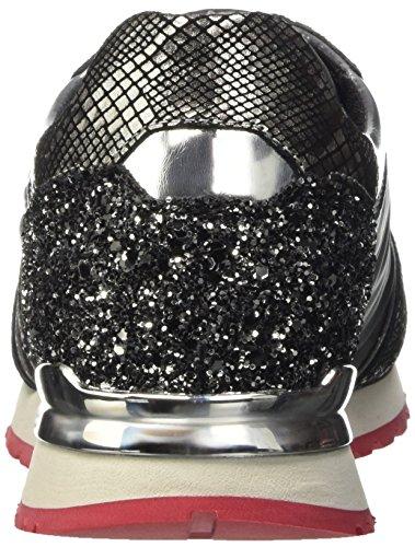 Bikkembergs Numb-Er 741 Shoe W Leat/Nylon/Glitter, Scarpe Low-Top Donna Grigio (Grey/Silver)