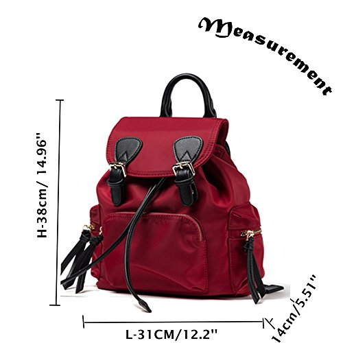 Sheli Groß College School Rucksack Tasche Passt Laptop Ipad, Grün Rot