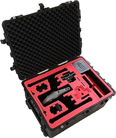 Professioneller Transportkoffer für DJI Inspire 2 - Landing Mode - Platz fuer X4S/X5S - 20 Batterien, Objektive, Deckel im Peli 1630 Koffer von MC-CASES