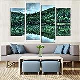 FYBSNDY 4 Stück Wandkunst Raumdekoration Druckplakat Schöne Schatten Wand Wohnzimmer Foto Leinwand Malerei 30X60Cmx2 30X80Cmx2 Ohne Rahmen