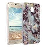 Galaxy J5 2017 Marmor Handyhülle, Asnlove Premium TPU Silikon Marble Hülle Protective Back Case TPU Silicone mit 3D Muster Handy Schutzhülle Cover für Samsung Galaxy J5 2017, Granit