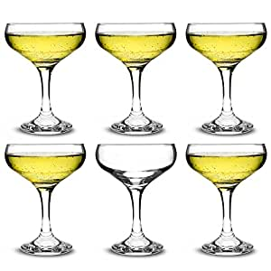 947dbccf359a Rink Drink Champagne Glasses Vintage Coupe Glass Saucer – 200ml – Pack of 12