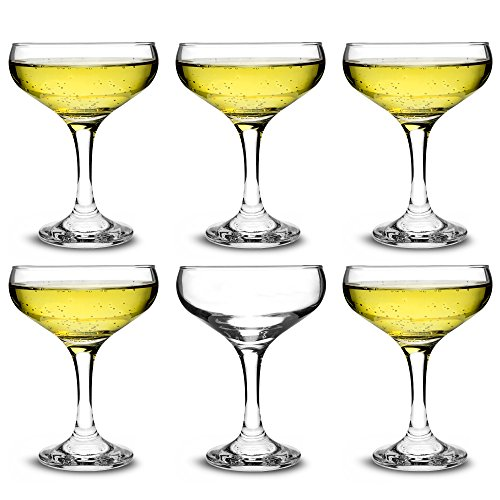 Coupes à champagne élégantes City - 200 ml - Lot de 6 verres à cocktail