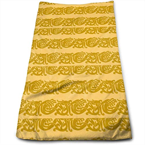 sexy world Towels Merida Brave Celtic Border Gold Face Towels Highly Absorbent Towels for Face Gym and Spa 11,8 x 27,5 Zoll