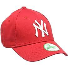 New Era K 940 MLB BAS NY Yankees - Gorra para niños, unisex, color rojo / blanco, talla única