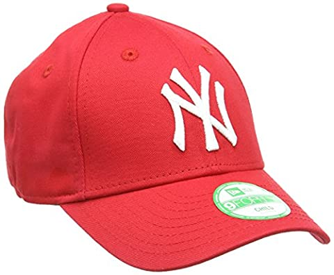 New Era Boy's Kids MLB Basic NY Yankees 9Forty Adjustable Cap, Red (Scarlet), One Size