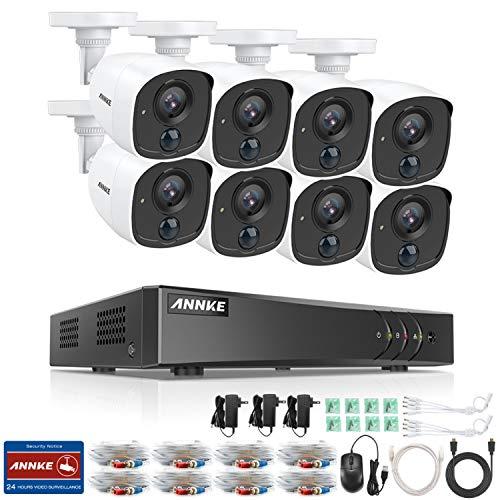 ANNKE 1080P Überwachungskamera System 8 x 1080P Wetterfest HD-Kamera Außen und 8CH 3MP DVR ohne Festplatte 1080P Überwachungskamera Set PIR-Erkennung 30m IR Nachtsicht Dvr-kamera-system