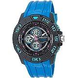 Ref. RA318602 Reloj Radiant Caballero,analógico-digital,correa de caucho azul,sumergible 100 metros,garantía 2 años.