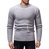Mantel Weihnachten Herren,❤️Binggong Herren Pullover Gestrickte Top Striped Sweater Outwear Bluse