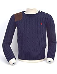 POLO RALPH LAUREN JUNIOR BOY CREW-NECK SWEATER CODE H40 SWE52 C0202 B4501 6  ANNI ef70ba9b650