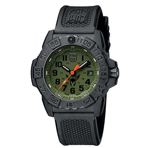 Luminox new NavySEAL TOUGH VIKING special edition Watch with carbon compound Case Green|Black Dial and PU Black Strap XS.3501.BO.TV.SET