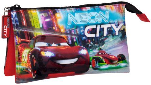 Disney , Damen Satchel-Tasche As stated - Pencil Case Neon City Cars 22x12x5cm