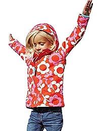 Highdas Niñas Zipper Chaquetas Flores Windbreaker Outwear abrigo 100-140