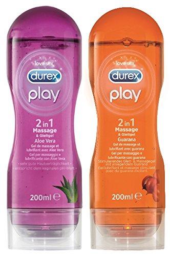 Durex Play 2in1 Massagegel-Set mit 2 Artikeln -