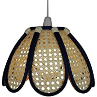 Lighting Company forma Web tulipano schermo profondo cupola di bambù