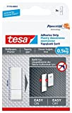 Tesa 77770–00002–00–Tiras adhesivas para colgar cuadros extraíble en papel pintado, color blanco
