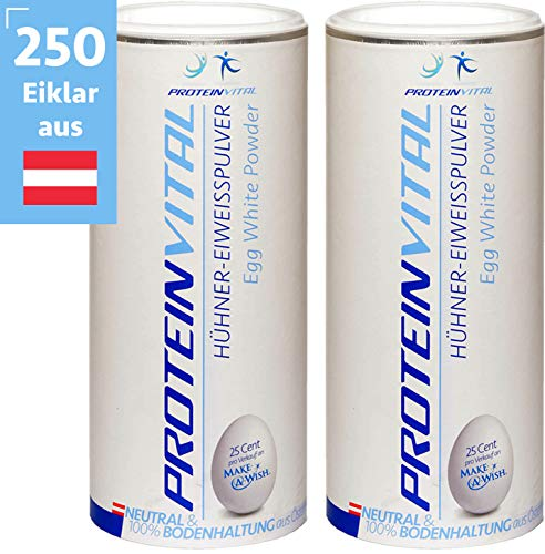 Pulver Eier (PROTEINVITAL Reines-Eiklar-Eiweiss-Protein-Pulver   Österreichische Eier   1000g)