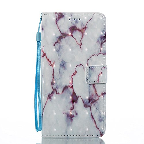 Marmor Stein Grain Texure Pattern PU Ledertasche Cover, Retro Bookstyle Flip Stand Case mit Magnetverschluss & Card Slots & Lanyard für LG STYLOS 3 LS777 ( Color : E ) B