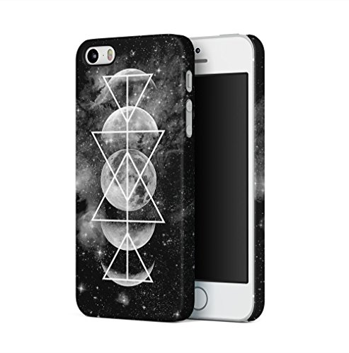 Moon Phases Space Cosmic Galaxy Geometric Apple iPhone 5 / iPhone 5S / iPhone SE SnapOn Hard Plastic Phone Protective Fall Handyhülle Case Cover (I Phone 5 Fällen Trippy)