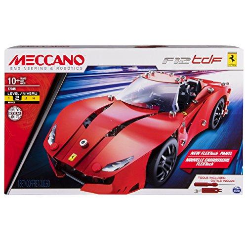 Meccano Ferrari F12 TdF Juego de construcción de varios modelos de vehículos 271pieza(s) - Juegos de construcción (Juego de construcción de varios modelos de vehículos, 10 año(s), 271 pieza(s), Negro, Rojo, Francia, 322,6 mm)