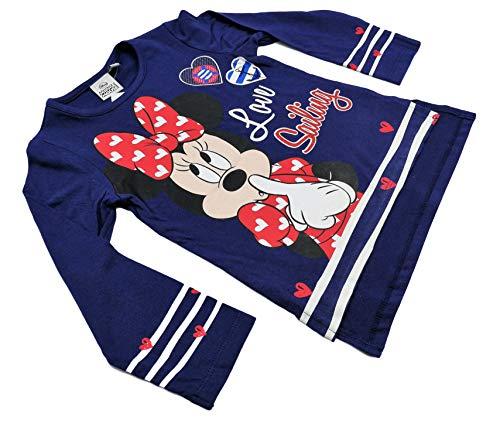 Disney Camiseta Infantil Minnie niñas Manga Larga 100% algodón