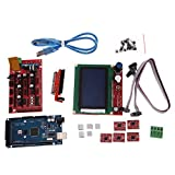 AFFECO 3D Printer Kit RAMPS 1.4 MEGA2560 A4988 LCD 12864 Controller Board for RepR