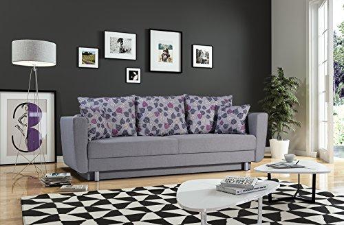 mb-moebel Schlafsofa Kippsofa Sofa mit Schlaffunktion Klappsofa Bettfunktion mit Bettkasten Couchgarnitur Couch Sofagarnitur Emilie
