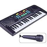 JUFENG Sintetizzatore per Bambini Principianti Play Smart 37 Tasti Piano con Microfono 8 Toni Multi-Funzionale Tastiera Elettronica Giocattolo Educativo per,A