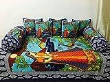 #10: Akshya Superior Quality Premium Fashion Trendy Traditional Fancy 200 TC 8 Piece Cotton Single Diwan Set