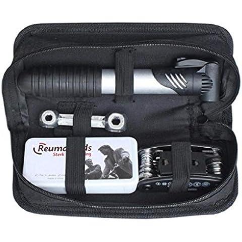 Koly Multifunción para bicicleta 16in1 Kit de herramienta de la reparación fijó con la bomba y el bolso