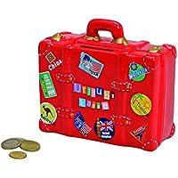 Preisvergleich für Wurm KG Spardose,Sparbüchse Reisekoffer, Reisekasse,Urlaubskasse Koffer mit Urlaubstickern aus Keramik mit Schloß