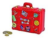 Spardose Urlaubskasse rot in Kofferform