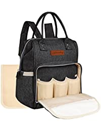 All In One Waterproof Diaper Bag Backpack Baby Nappy Bag For Boy And Girl Fit Stroller - With Changing Pad And...