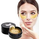 Beileer Eye Mask Augenpads Anti Aging Pads Collagen Maske Augenpflege mit Hyaluron Entfernen Taschen Dunkle Kreise Puffiness 60 pcs/box (Gold)