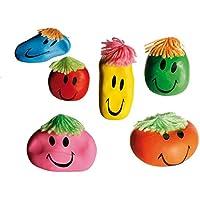 """6x Anti-Stressbälle """"Smile"""" / Wutball / Farbe: 6 verschiedene Farben preisvergleich bei billige-tabletten.eu"""