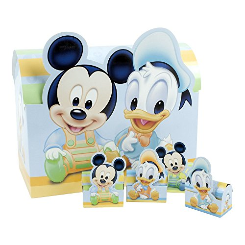 Carbomboniere car bomboniere walt disney babies astuccio portaconfetti, carta cartone, multicolore, 54x48x12 cm, 160 unità